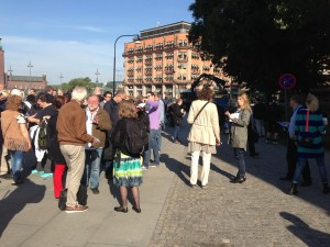 Folksamling utanför Rosenbad