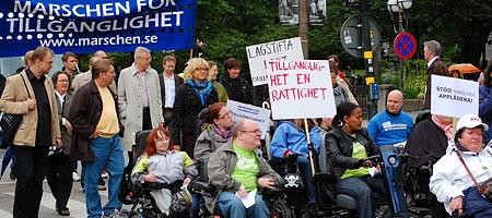 Marschen för Tillgänglighet  2010 (Foto: Björn Roth)